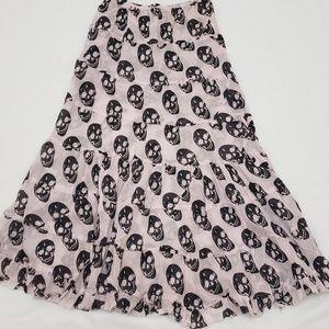 Long Flowy Skull Skirt